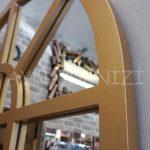 Galata Model Altın Renk Dekoratif Pencere Ayna-12