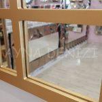 Galata Model Altın Renk Dekoratif Pencere Ayna-14