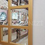 Galata Model Altın Renk Dekoratif Pencere Ayna-15