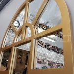 Galata Model Altın Renk Dekoratif Pencere Ayna-17