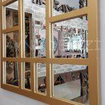 Galata Model Altın Renk Dekoratif Pencere Ayna-19