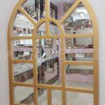 Galata Model Altın Renk Dekoratif Pencere Ayna-2