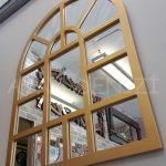 Galata Model Altın Renk Dekoratif Pencere Ayna-4