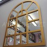 Galata Model Altın Renk Dekoratif Pencere Ayna-5