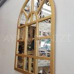 Galata Model Altın Renk Dekoratif Pencere Ayna-6