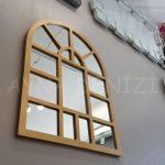 Galata Model Altın Renk Dekoratif Pencere Ayna-7