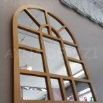 Galata Model Altın Renk Dekoratif Pencere Ayna-8
