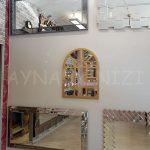 Galata Model Altın Renk Dekoratif Pencere Ayna-9