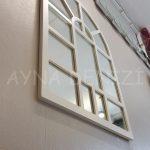 Galata Model Beyaz Renk Dekoratif Pencere Ayna-12