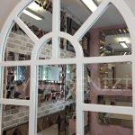 Galata Model Beyaz Renk Dekoratif Pencere Ayna-16