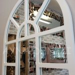 Galata Model Beyaz Renk Dekoratif Pencere Ayna-17