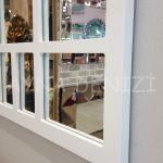 Galata Model Beyaz Renk Dekoratif Pencere Ayna-19