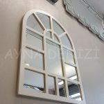 Galata Model Beyaz Renk Dekoratif Pencere Ayna-3