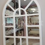 Galata Model Beyaz Renk Dekoratif Pencere Ayna-4