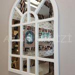 Galata Model Beyaz Renk Dekoratif Pencere Ayna-6