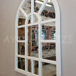 Galata Model Beyaz Renk Dekoratif Pencere Ayna-8