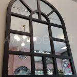 Galata Model Siyah Renk Dekoratif Pencere Ayna-10