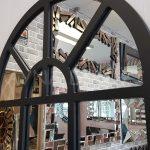 Galata Model Siyah Renk Dekoratif Pencere Ayna-11