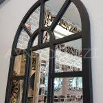 Galata Model Siyah Renk Dekoratif Pencere Ayna-14