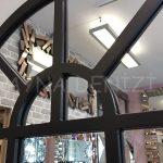 Galata Model Siyah Renk Dekoratif Pencere Ayna-15