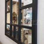 Galata Model Siyah Renk Dekoratif Pencere Ayna-18
