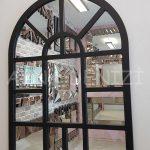 Galata Model Siyah Renk Dekoratif Pencere Ayna-2