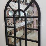 Galata Model Siyah Renk Dekoratif Pencere Ayna-3