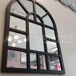 Galata Model Siyah Renk Dekoratif Pencere Ayna-4