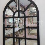 Galata Model Siyah Renk Dekoratif Pencere Ayna-5
