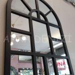 Galata Model Siyah Renk Dekoratif Pencere Ayna-6