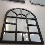 Galata Model Siyah Renk Dekoratif Pencere Ayna-7