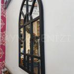 Galata Model Siyah Renk Dekoratif Pencere Ayna-8