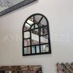 Galata Model Siyah Renk Dekoratif Pencere Ayna-9