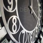Güneş Silver Circle Black Model Gümüş Siyah Renk Dekoratif Aynalı Duvar Saati-15