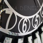 Güneş Silver Circle Black Model Gümüş Siyah Renk Dekoratif Aynalı Duvar Saati-17