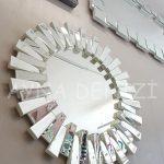 Güneş White Naturel Model Beyaz Şeffaf Renk Modern Ayna-8