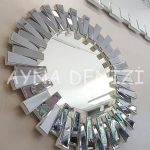 Güneş White Smoked Model Beyaz Füme Renk Modern Ayna-4
