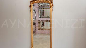 Vintage Madam Model Altın Renk Boy Aynası