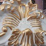 Vintage Madam Model Beyaz Altın Renk Ayaklı Boy Aynası-17