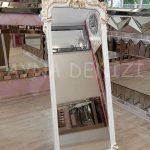 Vintage Madam Model Beyaz Altın Renk Ayaklı Boy Aynası-8