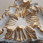 Vintage Madam Model Beyaz Altın Renk Boy Aynası-11