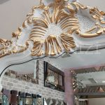 Vintage Madam Model Beyaz Altın Renk Boy Aynası-12