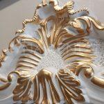 Vintage Madam Model Beyaz Altın Renk Boy Aynası-14