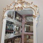 Vintage Madam Model Beyaz Altın Renk Boy Aynası-15