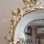 Vintage Madam Model Beyaz Altın Renk Boy Aynası-16