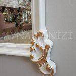 Vintage Madam Model Beyaz Altın Renk Boy Aynası-17