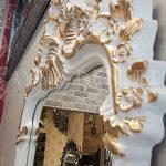 Vintage Madam Model Beyaz Altın Renk Boy Aynası-18