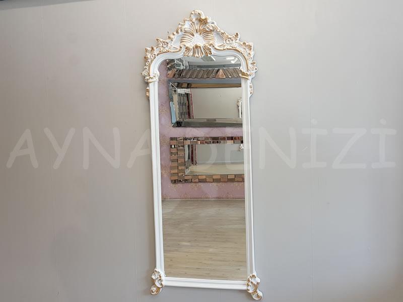 Vintage Madam Model Beyaz Altın Renk Boy Aynası