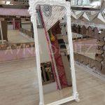 Vintage Madam Model Beyaz Renk Ayaklı Boy Aynası-11