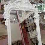 Vintage Madam Model Beyaz Renk Ayaklı Boy Aynası-15